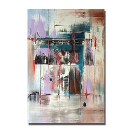 oil paint new NZ - Free Shipping New Style Abstract Painting for Home Decor Wall Pictures Modern Canvas Art Hot Sale Oil Painting High Quality No Framed