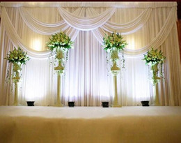 $enCountryForm.capitalKeyWord NZ - 3*6m Wedding Party Stage Celebration Background Satin Curtain Drape Pillar Ceiling Backdrop Marriage decoration Veil WT016