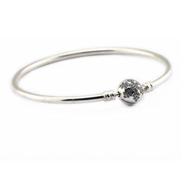 Love Moment Canada - 2016 Sterling-Silver-Jewelry Moments Bangles Silver 925 Unique Snowflake Bangle with Clear CZ Charm Bangles For Women