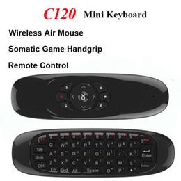 $enCountryForm.capitalKeyWord Canada - Wireless Mini Keyboard C120 Fly Air Mouse Game USB Receiver Gamepad 2 in 1 Gyroscope Handgrip Remote Control for Smart TV Box A95X MXQ Pro