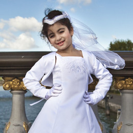 Chaquetas De Bolero Blanco Formal Baratos-Nueva Moda Flower Girls Bolero Niños Fiesta de Boda Dama de honor Shrug Niños Short Wedding Jacket Accesorio nupcial Custom White Pageat Cape