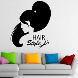 $enCountryForm.capitalKeyWord UK - Waterproof Wall Decals Hairstyle Hair Salon Vinyl Home Decor Wall Stickers for Living Room Self Adhesive