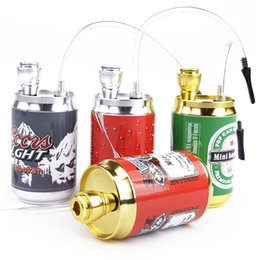 types aluminium alloys Canada - Multi Colors Mini Hookan Metal Smoking Pipe Aluminium Alloy Coke Cans Pipe