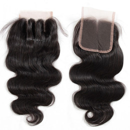 $enCountryForm.capitalKeyWord Canada - 8A Brazilian Virgin Human Hair Lace Closure Straight Body Wave Closures 4x4 Size Free Middle 3 Way Part Brazilian Lace Closure Natural Color