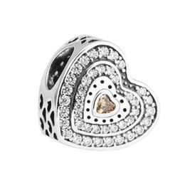 1b562ad9b Lavish Heart Charm Fancy-Colored & Clear CZ 2017 Spring 100% 925 Sterling  Silver Bead Fit Pandora Bracelet Fashion Jewelry DIY Charm Brand
