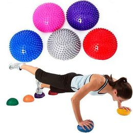 Ball For Massages Canada - Wholesale- Yoga supplies Half Ball Physical Fitness Exercise trainers point massage stepping bosu balance board GYM YoGa Pilates for feet