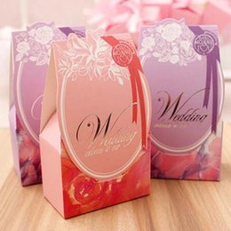 $enCountryForm.capitalKeyWord Canada - New Arrivals--50pcs pink Purple color paper wedding candy boxes party Favor boxes sweet gift boxes