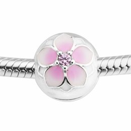$enCountryForm.capitalKeyWord UK - Magnolia Bloom Clip in beads with authentic S925 sterling silver beads fits pandora Jewelry bracelets free shipping aleCH621