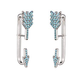 $enCountryForm.capitalKeyWord Canada - KIVN Fashion Jewelry Pave CZ Cubic Zirconia Turquoise Arrow Ear Cuff Ear Crawler Climber Earring Jackets