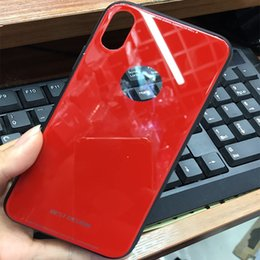 Discount new phones - New For iPhone X 8 Plus Ultra Thin Tempered Glass Back Phone Cases Cover Gel Bumper Original Color Shockproof For iPhone