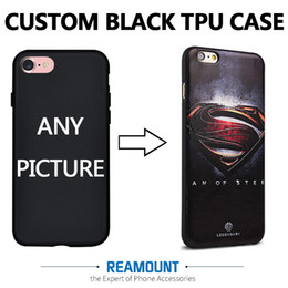 Pictures fit online shopping - 3D DIY Relif Custom Company LOGO Picture Black TPU Shell Phone Case Cover for iphone plus Mobile Phone Case