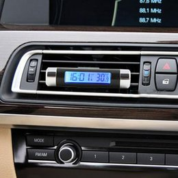 $enCountryForm.capitalKeyWord NZ - Blue Back Light Digital Car Clock Thermometer with Calendar LCD Display Air-Condition Vent Araba Saat for Automobiles