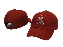 China I Feel Like Pablo Hats Baseball Caps 2017 Snapback Hat Hip Hop Fashion Sports kanye west bear Cap casquette supplier blue felt hat suppliers