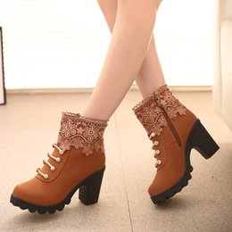 $enCountryForm.capitalKeyWord Canada - women fashion rough with lace European and American retro Martin Ankle boots lace tassels antiskid Martin shoots