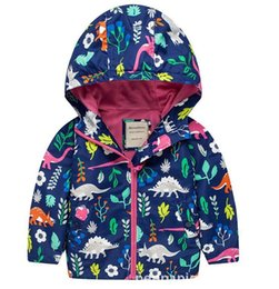 Garçon À Capuchon De Dinosaure Pas Cher-New Boys Autumn Dinosaur Winter Hooded Coat Sweater Cartoon Outfit vêtements vêtements enfants Enfant bébé 2-7 ans Veste Sweatshirt