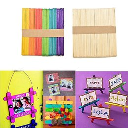 Magasin De Gros Artisanal Pas Cher-Vente en gros- Kids Child Natural Multi-Color Wooden Popsicle Sticks DIY Crafts Puzzle Toy Gift Store 34
