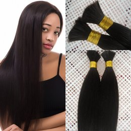 18 Inch Human Hair For NZ - 100% Human Hair Bulk for Braiding 3 Bundles Silky Straight Indian Hair Bulk 8-28 inch FDSHINE