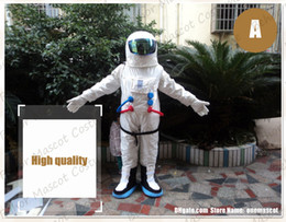 Großhandel Astronaut Maskottchen Kostüm kostenloser Versand Erwachsene Größe, billige hochwertige Karnevalsparty Phantasie Plüsch gehen Kosmonaut Maskottchen Kind Größe.