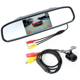 Chinese  Auto Parking Assistance System 2 in 1 4.3 Digital TFT LCD Mirror Car Parking Monitor + 170 Degrees Mini Car Rear view Camera manufacturers