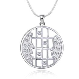 Chinese  wedding Inlaid with a smile sterling silver plated jewelry Necklace for women DN538,wedding 925 silver Pendant Necklaces with chain manufacturers