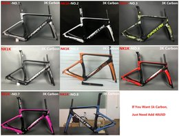 Discount 58cm frame Newest MCipollini NK1K T1000 1K or 3k frame Full Carbon Road Bike Frame,fork,headset,seatpost Size:XXS,XS,S,M,L, bicycle