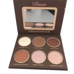 China DIOW Brand bronzer and Highlighter contour kit Pallete 6 colors glow kit shimmer chocolate contour Palette Drop Shipping supplier contour palettes branded suppliers
