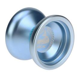 Venta al por mayor de Juguete para niños Yoyo 2 colores Magia profesional Yoyo N12 Aleación de aluminio Metal Yoyo 8 Ball KK teniendo con cadena para niños