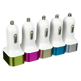 Good Car Brands Canada - 2.1A 2100mA 3 usb car charger 3 port usb with colorful frame charge for ipad iphone samsung samrtphone mp3 mp4 in good quality OM-CF7