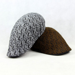 Wholesale-2015 New Fashion Beret Men Women Knitted Winter Warm Hat Unisex  Berets Cap Gorras Planas a274a9972c74