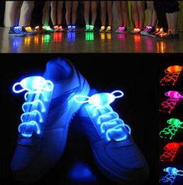 2018 string family LED Sport Shoe Laces Flash Light Glow Stick Strap Shoelaces 80CM Luminous Shoe Strings Glowing Stick Strap With Plastic