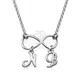 Infinity necklaces initials online shopping infinity necklaces infinity necklace with initials name necklace 316 stainless steel pendant with the custom name jewerly necklace aloadofball Choice Image