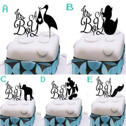 Baby Shower ITS A BOY Acrylic Cake Toppers Newborn Baby Boys Celebration  Anniversary Party Cake Picks Inexpensive Baby Shower Cake Toppers Boy