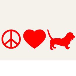 $enCountryForm.capitalKeyWord Canada - Handicrafts Vinyl Decals Car Stickers Window Stickers Scratches Stickers Wall Die Cut Bumper Accessories Animal Jdm Peace Love Basset Dog