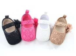 Slip Slip Pas Cher-Newborn Lace Soft Sole Baby Shoes 2017 Summer Top Quality Flower Baby Girl Chaussures en dentelle Toddler Prewalker Anti-Slip Baby First Walker 226