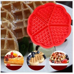 chocolate panning 2018 - Round Waffle Silicone Mould Waffles Cake Chocolate Pan Fondant Silicone Molds for cake decorating Baking Mould Donut Mak
