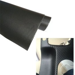 Carbon Fiber Decal Roll UK - 58cmx500cm 3D Carbon Fiber Vinyl Car Wrap Sheet Roll Film Car Stickers And Decals Motorcycle Car styling Accessories