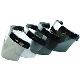 $enCountryForm.capitalKeyWord UK - Hot sale 3-snap retro helmet shield lens capacete casco moto Motorcycle open face helmet Vintage Flight Helmet visor