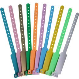 26.4 см одноразовые композитные пластиковые идентификации запястье пряжки детей идентификации браслет Браслет пористые деятельности