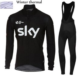 4bc0ddc90 Discount bike team jersey pants 2017 winter thermal fleece team sky cycling  jersey long sleeve Quick