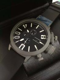 Discount titanium swiss men watch - Luxury Titanium Stainless Big Dial Swiss Top Brand New Mens Quartz Chronograph Wristwatches U Date Modern Men Sport Watc