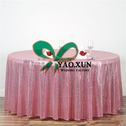 cheap round polyester table cloths NZ - Whoesale Price Round Sequin Table Cloth \ Cheap Wedding Tablecloth Free Shipping