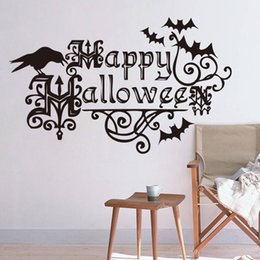 $enCountryForm.capitalKeyWord NZ - New Happy Holloween Art Mural Wall Decal Creative Wall Sticker for Kids Room and Living Room Home Decoration 57*35cm Removable
