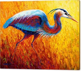 $enCountryForm.capitalKeyWord Australia - YOUME ART Giclee Animal the urge to merge bue-heron-2 oil painting arts and canvas wall decoration art Oil Painting on Canvas 60X76cm