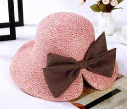 $enCountryForm.capitalKeyWord Australia - Womens Floppy Summer Sun Beach Straw Bucket Hat Fedora Foldable Church Wide Brim Hat 56-58cm Outdoor Holiday Cap