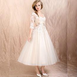 Three Quarter Length Sleeve Wedding Dresses Online | Three Quarter ...