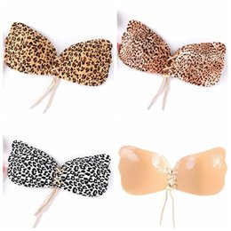 Poitrine De Soutien-gorge Invisible Pas Cher-Leopard Breast Pad Women Push Up Bra Silicone Bralette Invisible Stick On Strapless Seamless Bras 500pcs OOA2259