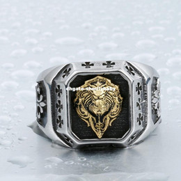 punk rings NZ - Dhgate Cool For Man 316L Stainless Steel Plated-Gold Lion Head Fashion Top Quality Rings Punk Jewelry BR8-389