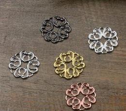$enCountryForm.capitalKeyWord Canada - 20mm antique bronze silver rose gold gun black Copper filigree flower charms for jewelry making, vintage metal bracelet pendants findings