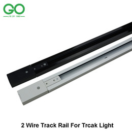 Venta al por mayor de 1m LED riel ligero riel riel accesorio de iluminación riel para iluminación de rieles Rieles universales 2 cables Versión de esquina recta Conector de 3 vías y 4 vías