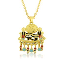 Distinctive jewelry online shopping - Fashion Mixed Color Distinctive k Gold Plated Unique Enamel Eye Of Horus Egypt s Talisman Pendant Necklace Jewelry